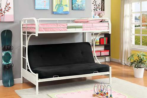 RAINBOW TWIN OVER FUTON BASE BUNK BED