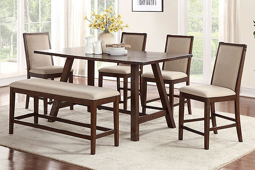 McALISTER 6PCS. COUNTER HEIGHT DINING SET