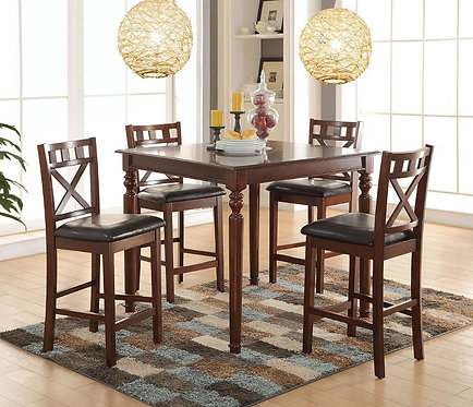 WELDON 5PCS COUNTER HEIGHT DINING SET
