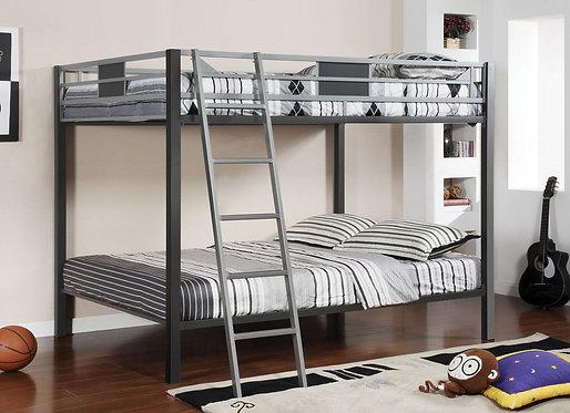 CLETIS FULL OVER FULL METAL BUNK BED