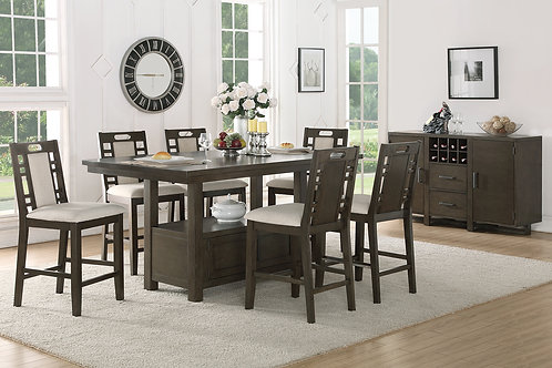WINCHESTER II 7PCS. COUNTER HEIGHT DINING SET