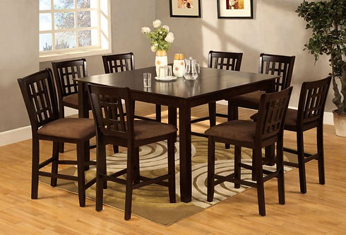 ELEANOR II 9PCS. COUNTER HEIGHT DINING SET