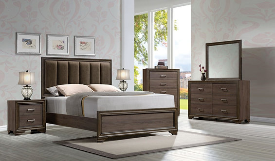 CYRILLE II WALNUT FINISH BEDROOM SET