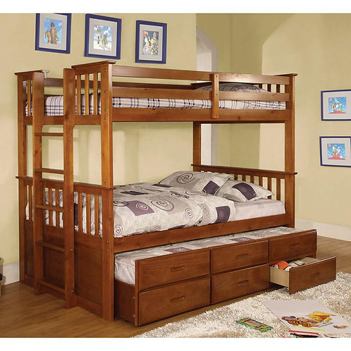 UNIVERSITY TWIN OVER TWIN WOOD BUNK BED