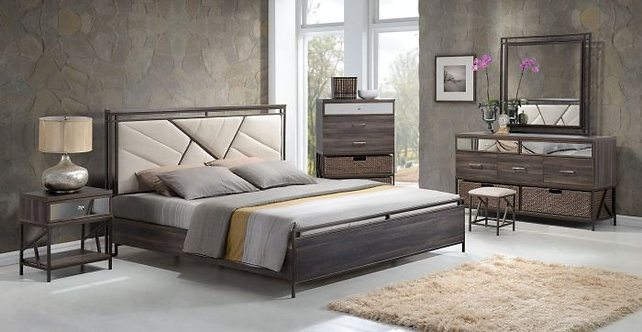 ADRIANNA WALNUT FINISH BEDROOM SET