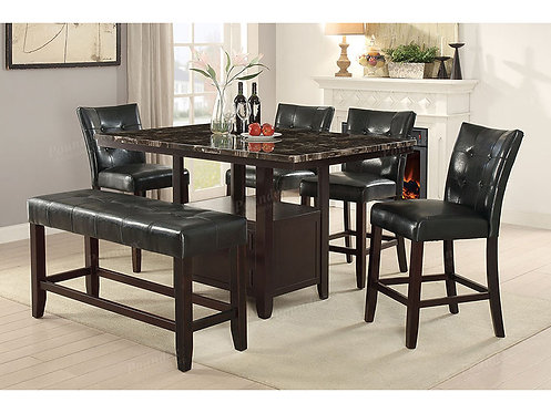 ACELINE II 6PCS.COUNTER HEIGHT DINING SET