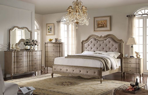 CHELMSFORD TAN FABRIC BEDROOM SET