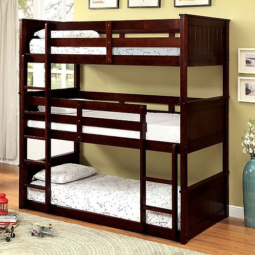 THERESE TRIPLE WOOD BUNK BED