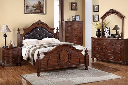 FEDRA II CHERRY BROWN FINISH BEDROOM SET