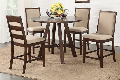 McALISTER ROUND COUNTER HEIGHT DINING SET