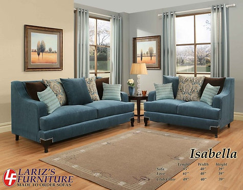 ISABELA SOFA AND LOVE SEAT
