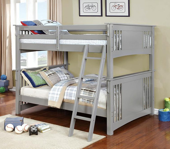 SPRING CREEK FULL OVER FULL WOOD BUNK BED IN GRAY COLOR