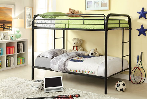 RAINBOW TWIN OVER TWIN METAL BUNK BED