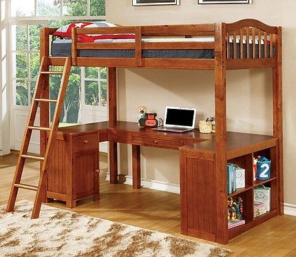 DUTTON TWIN LOFT BED W/WORKSTATION