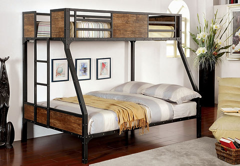 CLAPTON TWIN OVER FULL BUNK BED