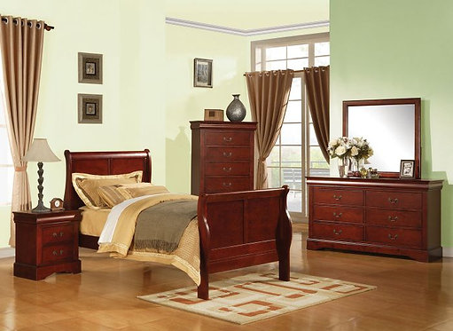 LOUIS PHILIPPE III TWIN 4PCS BEDROOM SET
