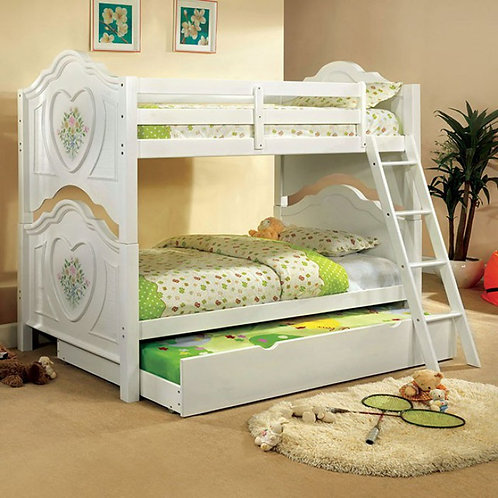 ISABELLA III WHITE TWIN TWIN WOOD BUNK BED