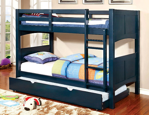 BLUE PRISMO II TWIN TWIN BUNK BED WITH