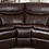 Thumbnail: BROWN LEATHER SECTIONAL