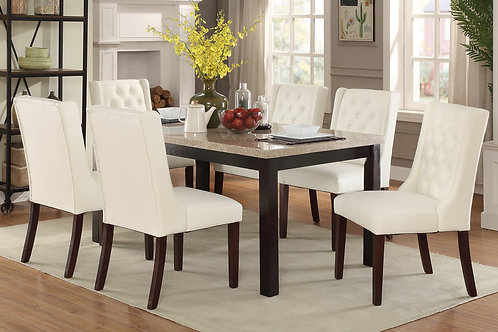 ADELE REAL MARBLE TOP DINING SET