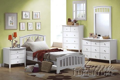 SAN MARINO WHITE FINISH 4PCS TWIN BEDROOM SET