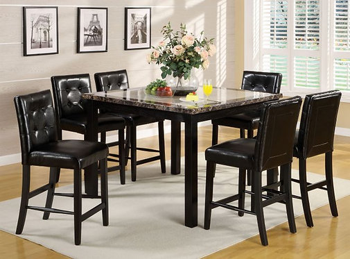 ATLAS II 7PCS. COUNTER HEIGHT DINING SET