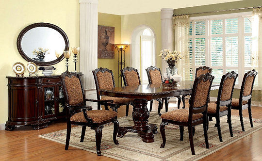 THE BELLAGIO DOUBLE PEDESTAL DINING ROOM SET