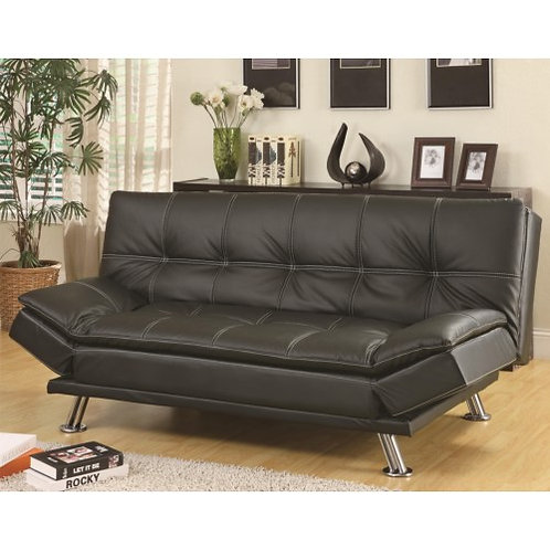 BLACK FUTON SOFA BED