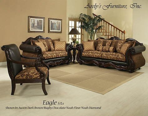 EAGLE SOFA, LOVE AND CHAIR