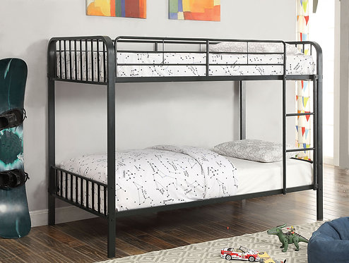 CLEMENT TWIN OVER TWIN METAL BUNK BED