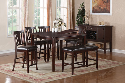 RYAN 6PCS. COUNTER HEIGHT DINING SET