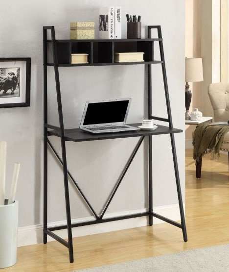 Writing Desk with Overhead Cubbies