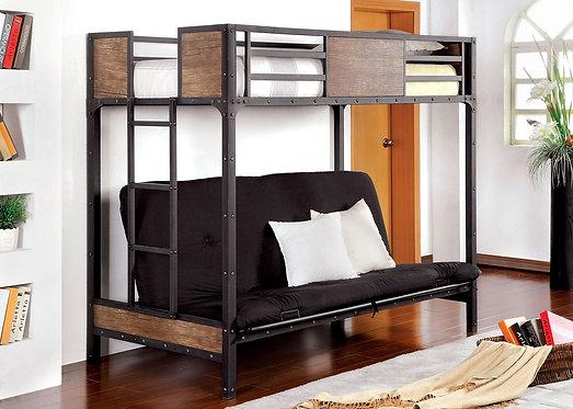CLAPTON TWIN BUNK BED W FUTON BASE