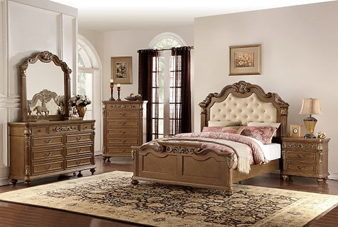 GABRIELA IV COLLECTION MEDIUM BROWN FINISH BEDROOM SET