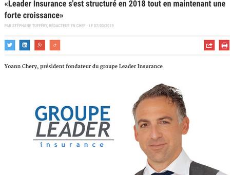 Article - Yoann Chery La Tribune de l'assurance