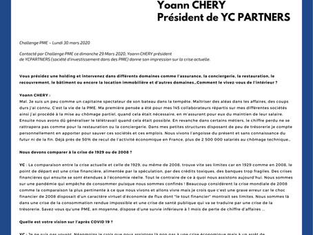 Interview de Yoann Chery pour Challenge PME
