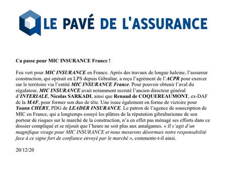 Le Pavé de l'assurance