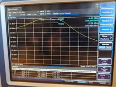 Measured transfer of the LNA and the band pass filter