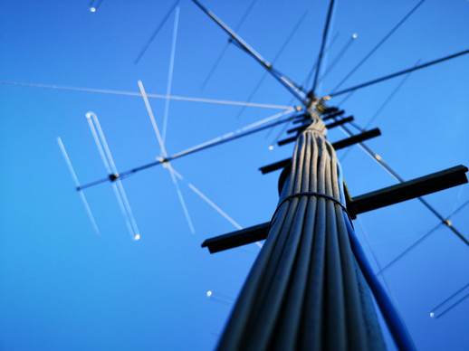 Antenna system view from the ground