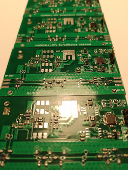 RF front PCBs are almost in a ready state.