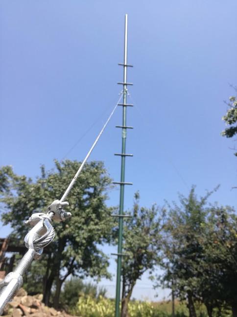 View of the prepared antenna mast