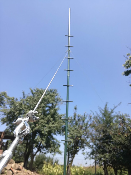 View of the prepared antenna mast