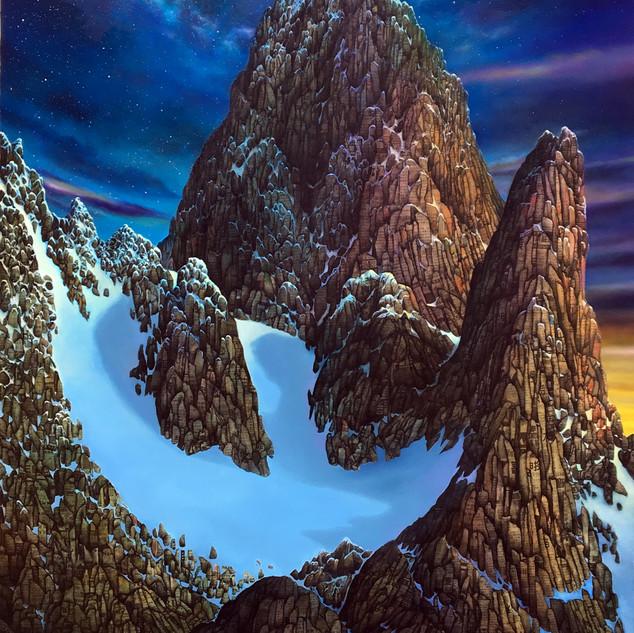 Magritte's Mountain Bird