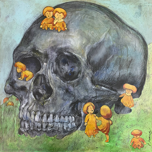 Untitled: Skull and Kids