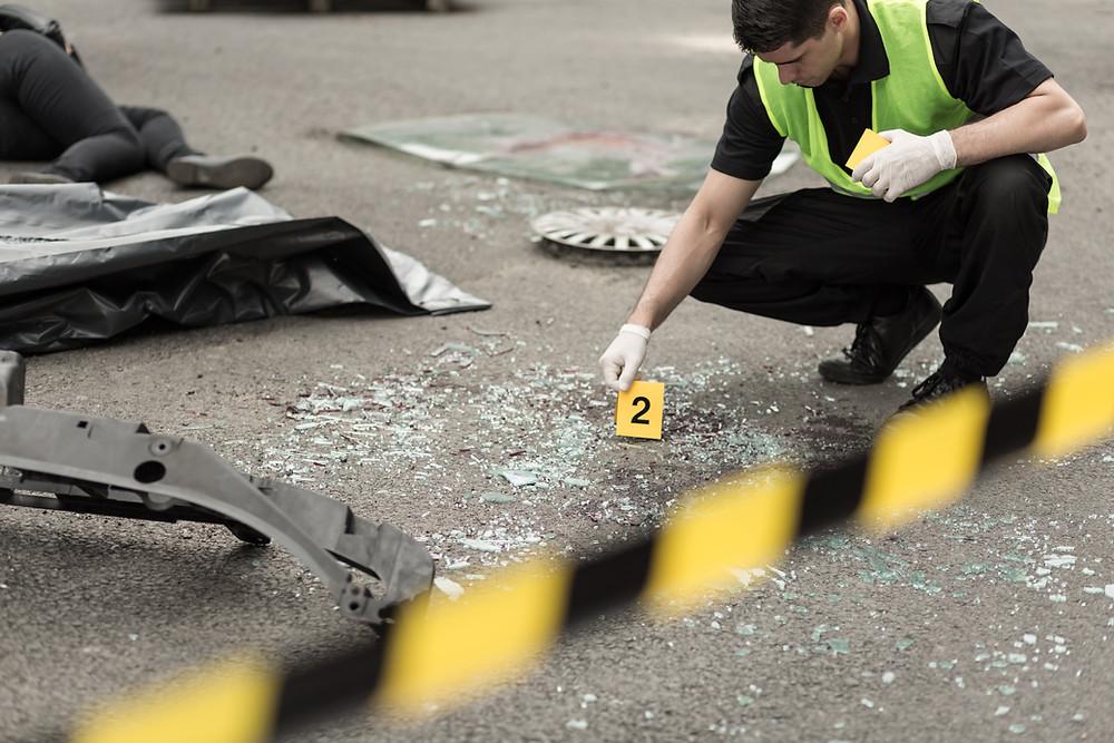 בוחן תנועה, חקירת תאונת דרכים.