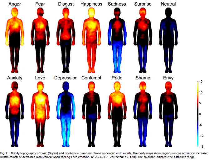Feelings and how they manifest in the body
