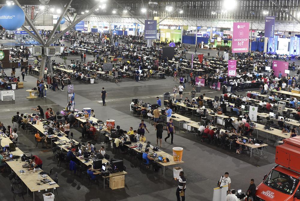 Visão geral da Arena da Campus Party.