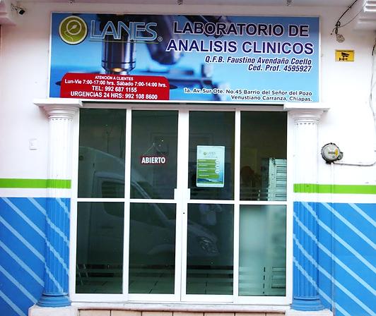 Laboratorios Lanes sucursal Venustiano Carranza, Chiapas