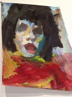 Oil painting on carboard