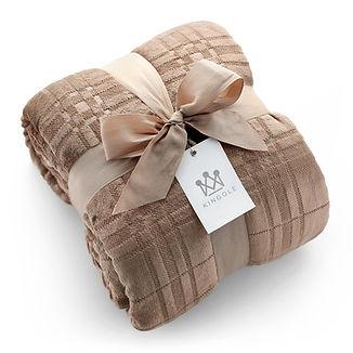 Kingole-Patterned-Blankets-6199-Brown.jp